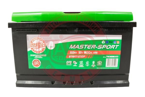 Akumulators MASTER-SPORT 790828000 Start-Stop 82Ah 800A